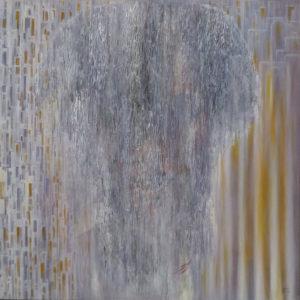 Dédales :  Réseau 100 x 100 cm - Collage & acrylique