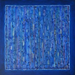 Dédales : Bleu Nuit 100 x 100 cm - Acrylique