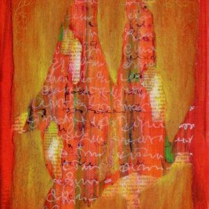 Epreuve de Temps 3 - 30 x  24 cm - collage et acrylique