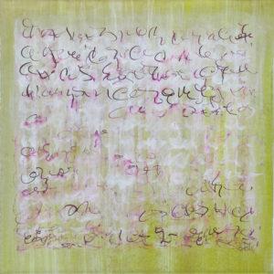 Epreuve de Temps 1- 40 x  40 cm - encre et acrylique