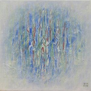 Les Fils du temps 6 - 30 x 30 cm - acrylique & collage