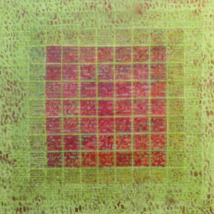 Métamorphose III - 100 x 100 cm - acrylique & collage