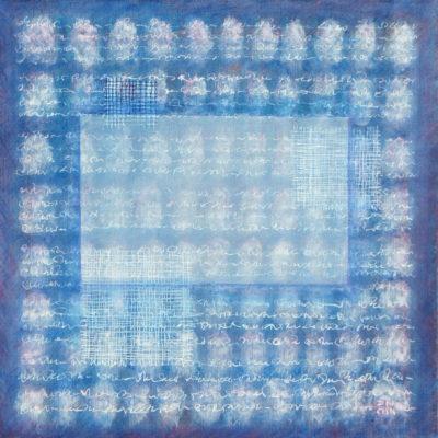 Les Fils du temps 10 - 40 x 40 cm - acrylique