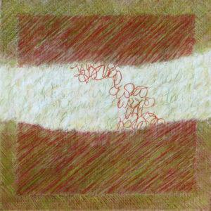Les Fils du temps 9 - 40 x 40 cm - acrylique
