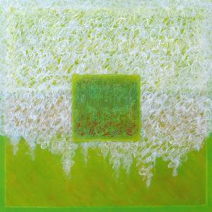 Les fils du temps VI - 100 x 100 cm -acrylique
