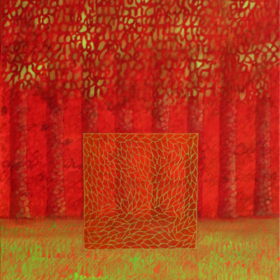 Métamorphose La Cage dorée - 100 x 80 cm - acrylique