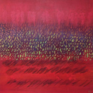 Les fils du temps C  - 80 x 80 cm - acrylique