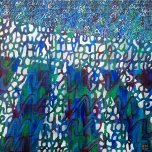 Les fils du temps c - 50 x 50 cm - acrylique